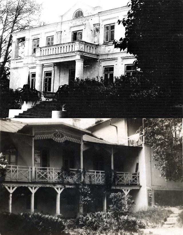 Dwór wCzerniewicach od strony północnej iwschodniej, lata 30. XX wieku